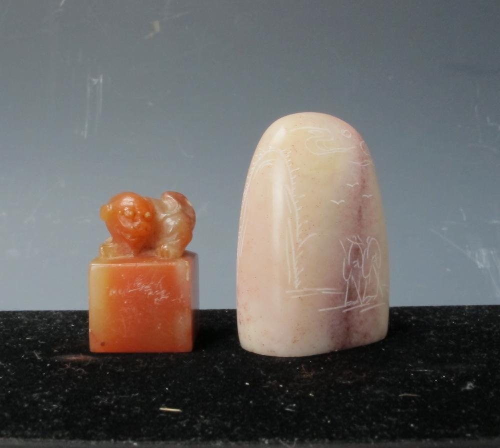Two Chinese Shoushan Stone Seals