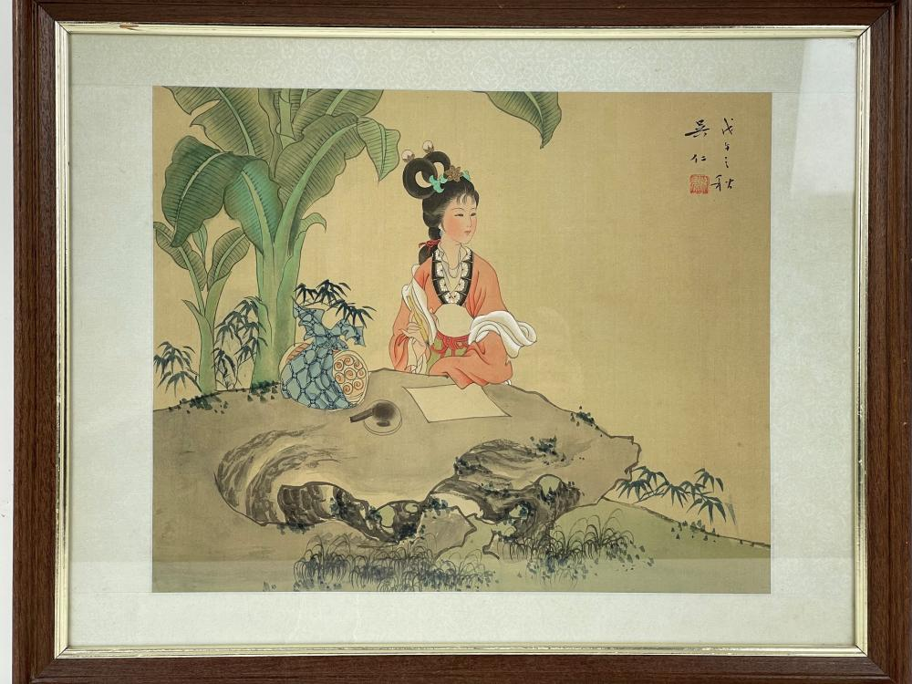 A Chinese Painting on Silk by Wu Ren
