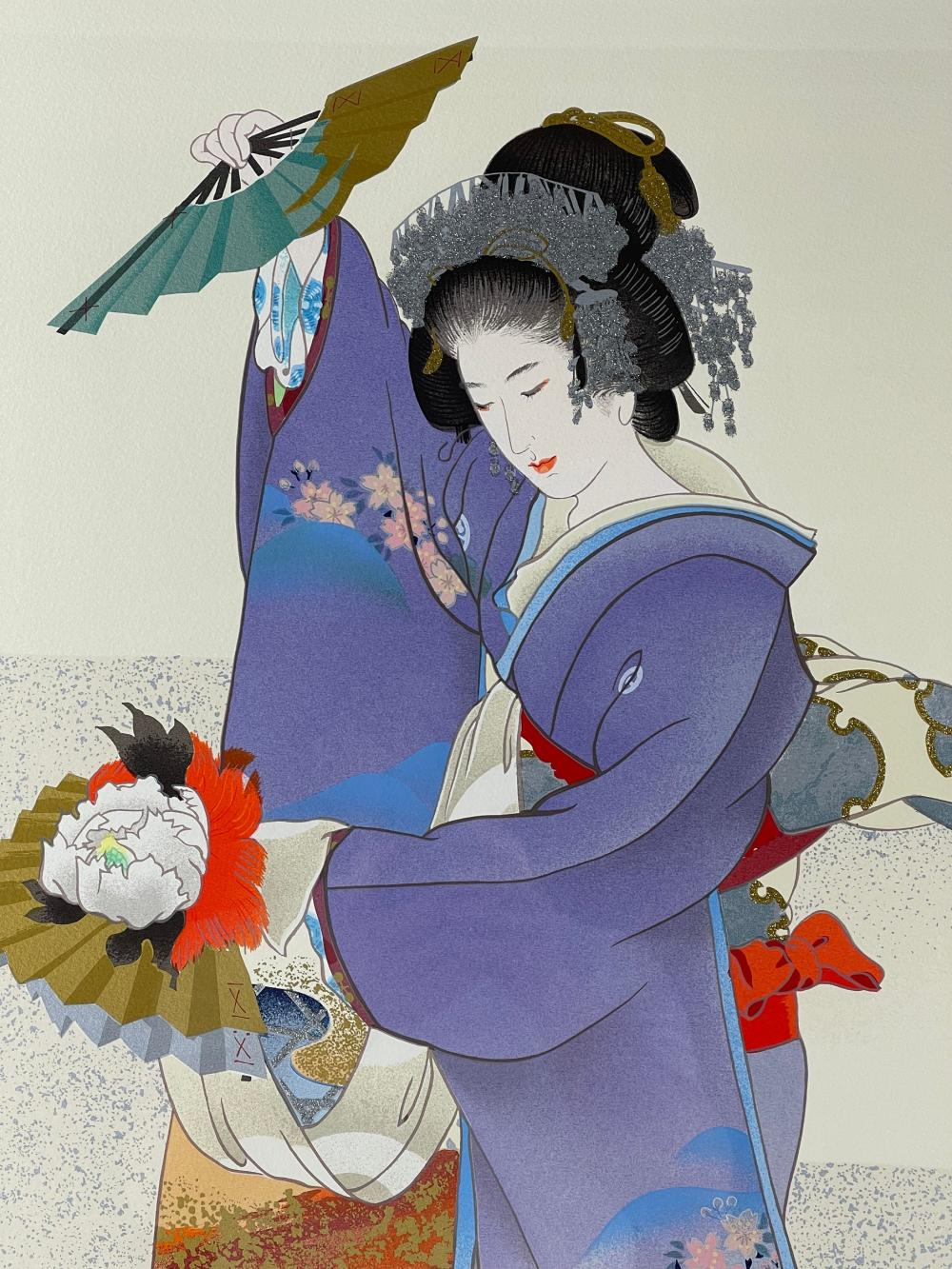 Morita Haruyo Yachiyo Japanese Serigraph