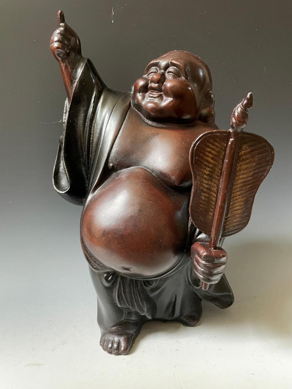 A Bronze Happy Buddha