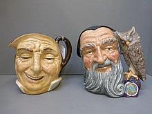 Two Royal Doulton character jugs: Farmer John and