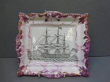 A 19th Century Sunderland lustre wall plaque