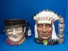 Two Royal Doulton character jugs: Sam Weller and a
