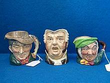 Three Royal Doulton character jugs: Buzz Fuzz, The