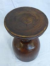 A 19th Century treen goblet raised on a turned