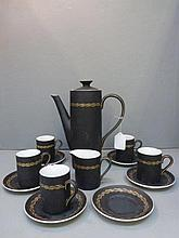 A 1960s Thistledown coffee set.