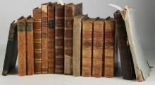 18TH/19TH CENTURY MISCELLANY - A collection of 14 books including [ANON] A further Report From the Committee of Secrecy, Appointed to Enquire into the Conduct of Robert, Earl of Orford (London: T. Leech, 1742), George Buchanan's An Appendix to the History of Scotland (London: Sam. Palmer, 1721) and [Walter Gilbey]'s Index of Engravings with the Names of the Artists in the Sporting Magazine from the Year 1792 to 1870 ([London]: Walter Gilbey, [1892]), PRESENTATION COPY. Sold not subject to return. (14)