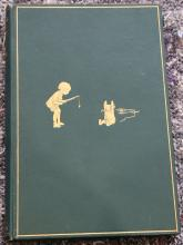 MILNE, A. A. (1882-1956). Winnie-The-Pooh. London: Methuen & Co. Ltd., 1926. 8vo. Illustrations by E. H. Shepard. Original green pictorial cloth gilt (without dust-jacket, minor rubbing, corners lightly bumped). Provenance: