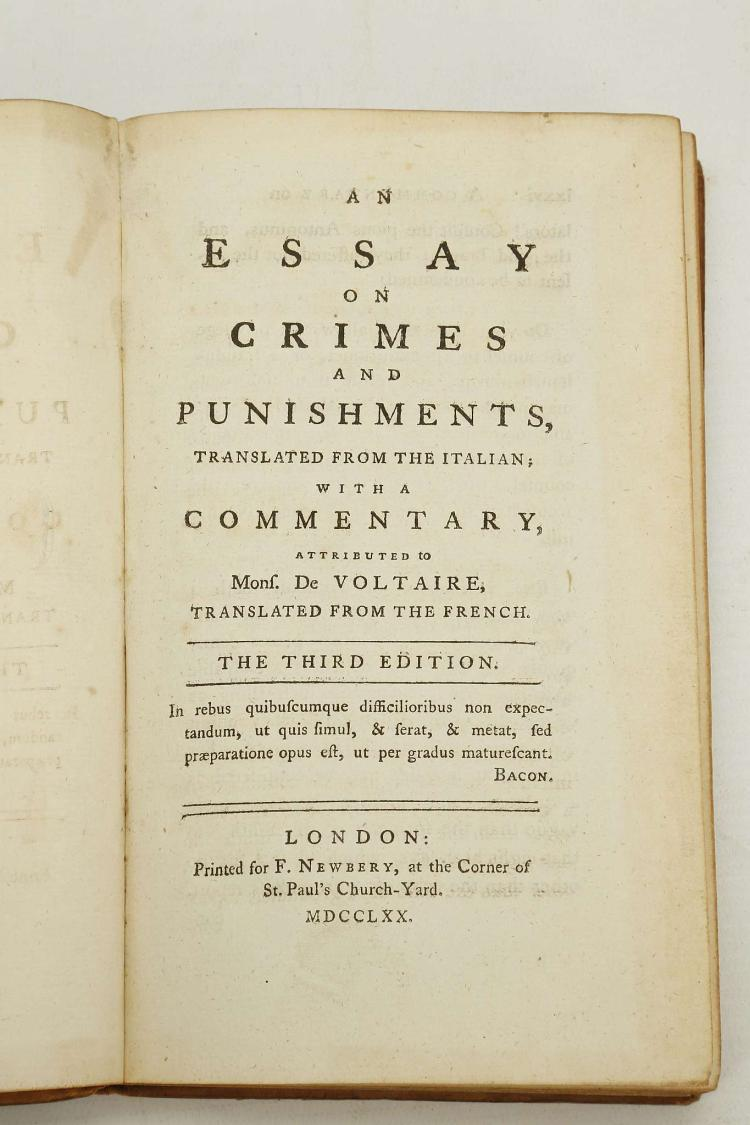 cesare beccaria on crimes and punishments essay