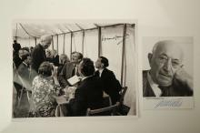 WIESENTHAL, Simon (1908-2005). A SIGNED photograph of the Jewish Austrian Holocaust survivor. With a SIGNED photograph of Edward Heath. 250mm x 200 mm. (2)