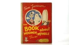 JANSSON, Tove (1914-2001). The Book About Moomin, Mymble and Little My. London: Ernest Benn Limited, 1953. Folio. Original red pictorial boards (corners bumped, light rubbing and light soiling). FIRST EDITION.