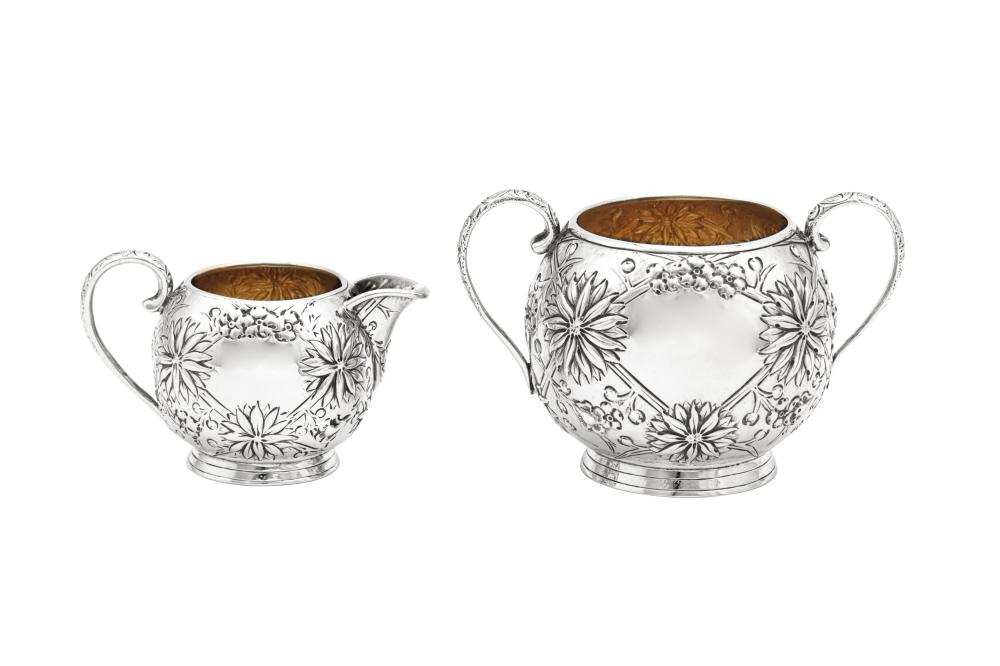 A Victorian Scottish sterling silver strawberry set, Edinburgh 1879 by Hamilton and Inches
