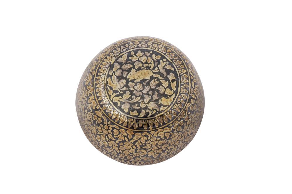 A late 19th century Siamese (Thai) silver gilt niello small bowl, Bangkok or Nakon Sri Thammarat circa 1880