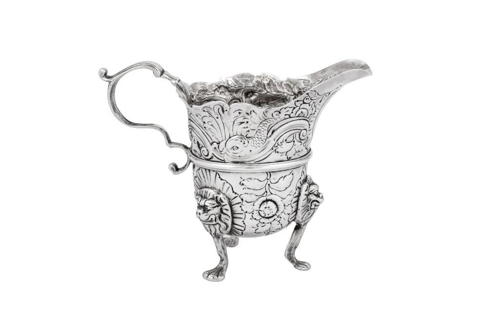 A George II Irish sterling silver cream jug, Dublin circa 1750 by Samuel Walker (active 1731-69)