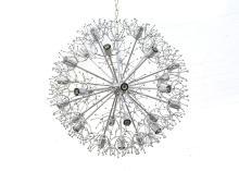 A 1960'S ITALIAN SPUTNIK CEILING PENDANT LIGHT (80cm diameter).