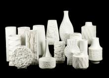 A COLLECTION OF 1960s AND LATER, WHITE TEXTURED GERMAN CERAMICS, to include Royal KPM, Thomas and other makers (Qty).