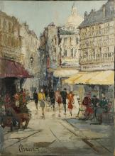 JOHANNES BEVORT (DUTCH 1917-1996), untitled, city scene, mid 20th Century, oil on canvas, signed (80cm x 59cm).