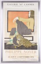 A Galerie 65 Cannes Exhibition poster for Philippe Noyer, 20 August to 6 September. Glazed and framed.