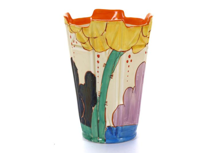 Clarice Cliff Fantasque Bizarre 451 Shape Vase In Summerhou