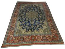 A Persian Isfahan carpet, West Iran, 3.65m x 2.65m, condition rating A.