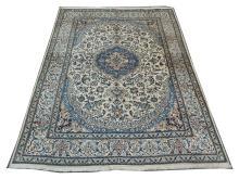 A Persian wool and silk nain carpet, Central Iran, 3.45m x 2.45m, condition rating A/B.