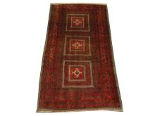 A fine Turkoman rug, North East Iran, 1.80m x 0.90m, condition rating A.