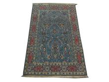 A Persian silk Qum rug, Central Iran, 2.15m x 1.34m, condition rating A.