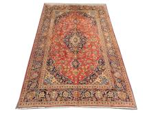 A Persian Keshan carpet, Central Iran, 3.05m x 2.00m, condition rating A.
