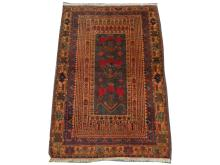 An Afghan Belouch rug, South West Afghanistan, 1.41m x 0.95m, condition rating A/B.