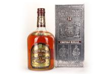 A 1980's Chivas Regal Blended Scotch Whisky, 12 year old as of '80's, 133? fl ozs (approx. 4 litres of 1 gallon)