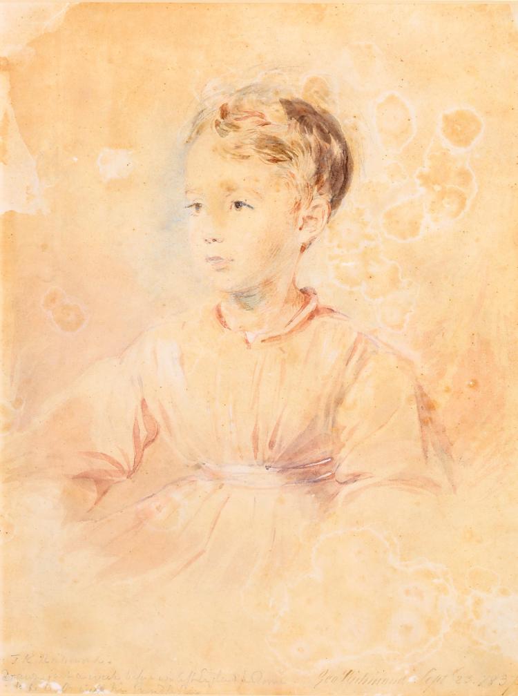 GEORGE RICHMOND R.A. (BRITISH 1809-1896) The Artist's son Inscribed to bottom edge
