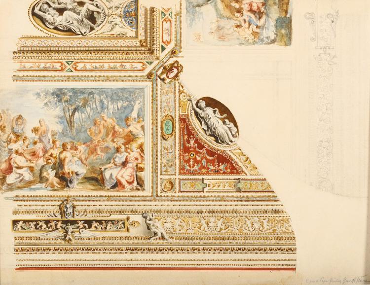 ITALIAN SCHOOL, AFTER GIOVANNI DA UDINE (EARLY 19TH CENTURY) Vigna di Papa Inscribed, lower right 'Vigna di Papa Giulio Giovanni da Udine' Watercolour over pencil 30 x 39cm (12 x 15.25in) Unframed
