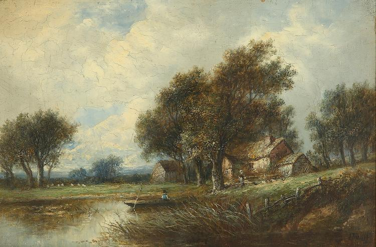 JOSEPH THORS (DUTCH 1835-1920) A pair of Country Landscape Views Signed lower right Oil on canvas 20 x 30cm (8 x 12in)