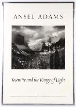 Ansel Adams, Yosemite and the Range of Light, advertising poster (92 x 65cm incl. frame).