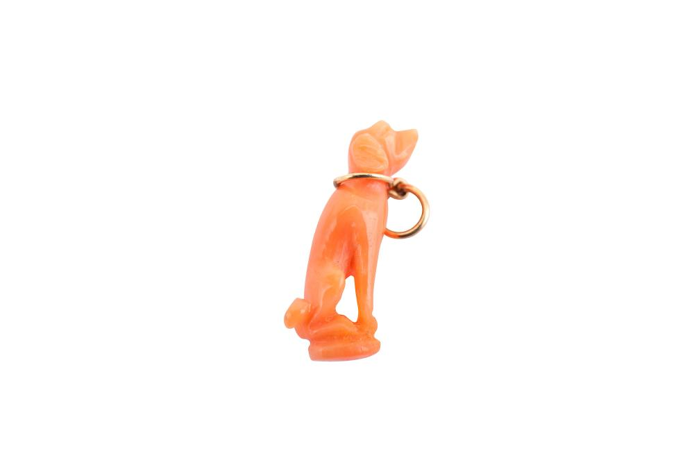 A coral dog fob