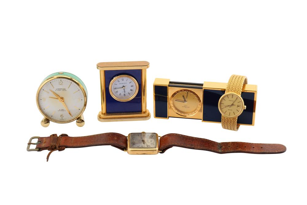 A GROUP OF FIVE WATCHES