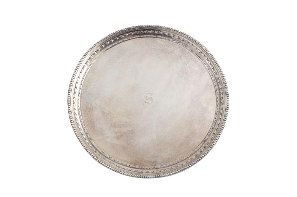 An Edwardian sterling silver salver, Sheffield 1904 by James Dixon & Sons