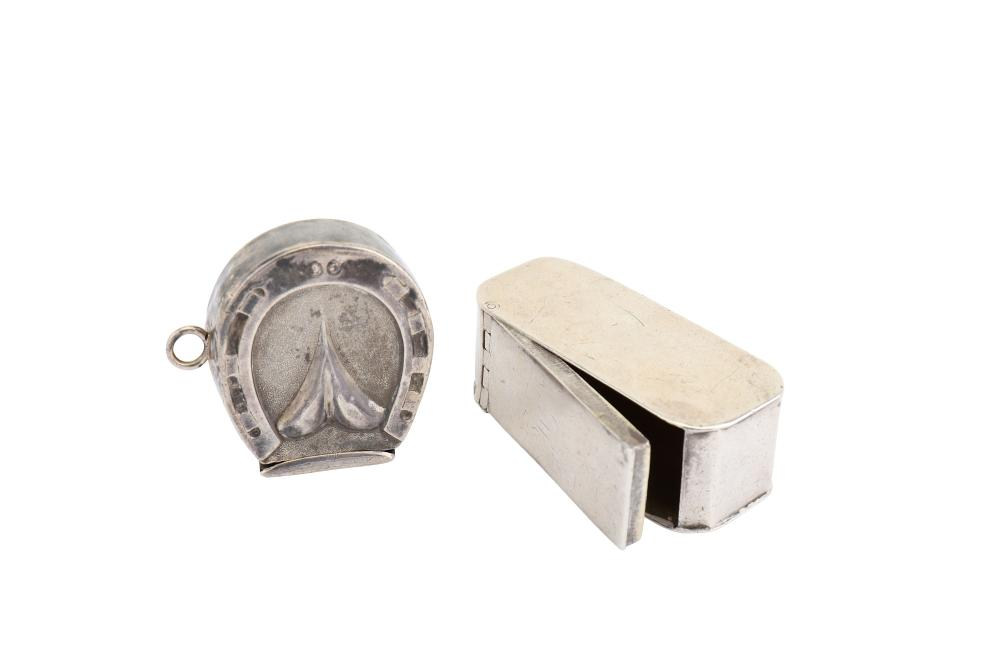A George III sterling silver snuff box, Birmingham 1798 by Thomas Wilmore