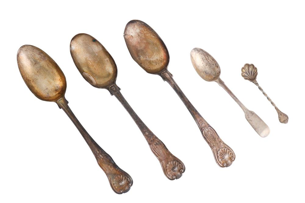 A mixed group of sterling silver flatware,