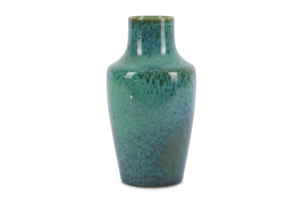 A Ruskin Pottery high fired vase of baluster form by William Howson Taylor, circa 1920s,