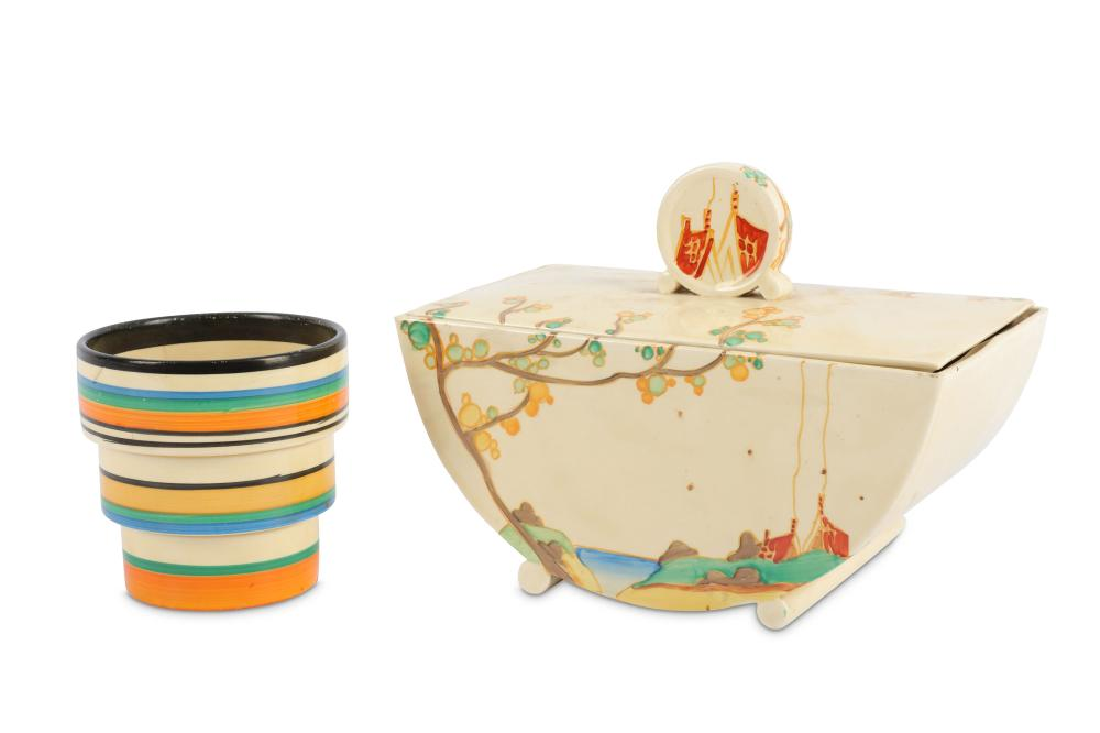 Clarice Cliff  - Secrets  - A Biarritz tureen and cover