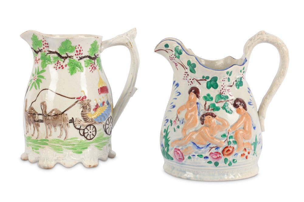 Two mid 19th Century pearlware jugs