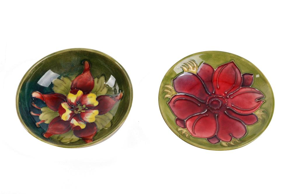 Four items of Moorcroft Pottery