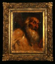 Cannon, 19th Century School   'St Jerome after Domenichino'   Oil on canvas after the original in the Vatican painted circa 161.   In a good gilt wood frame.   54cm x 43 cm