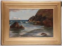 Wyclliffe Egginton R.I., b.1875-1951. Coastal scene, oil on canvas. Signed lower left, dated 1903. Framed.