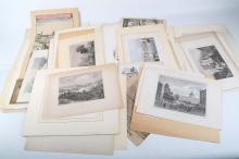 A selection of topographical and animal engravings, mostly 19th Century, castles and landscape, various sizes (Qty).