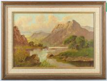 Jack M. Ducker fl. 1910-1930. 'Loch Alsh'. Oil on board highland landscape with loch to fore and distant views. Signed lower left. Framed. 27cm x 39cm.