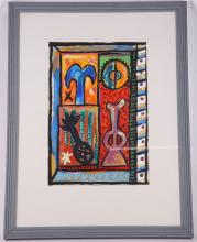 ALASTAIR MACK (BRITISH b.1955). 'Vegetable Study A', 1987, late 20th Century Scottish school, gouache on paper, signed and dated (image: 40 x 27cm).  (MAY BE SUBJECT TO ARTIST'S RESALE RIGHTS)