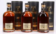 THREE 30 YEAR OLD TASGALL 'EXCEPTIONALLY RARE' BLENDED SCOTCH WHISKY,  all in original card 'tin', all 700ml, (all 40% ABV)(3).