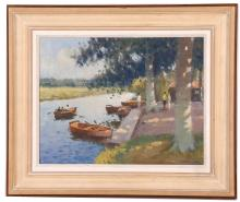 RONALD MORGAN RBA ROI (BRITISH, b.1936), 'THE STOUR AT DEDHAM', 2009, contemporary oil on board, river scene, signed and dated, (24 x 31cm) (MAY BE SUBJECT TO ARTIST'S RESALE RIGHTS)